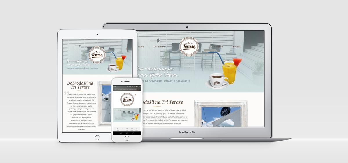 "Web Dizajn | Beach Bar ""Tri Terase"""