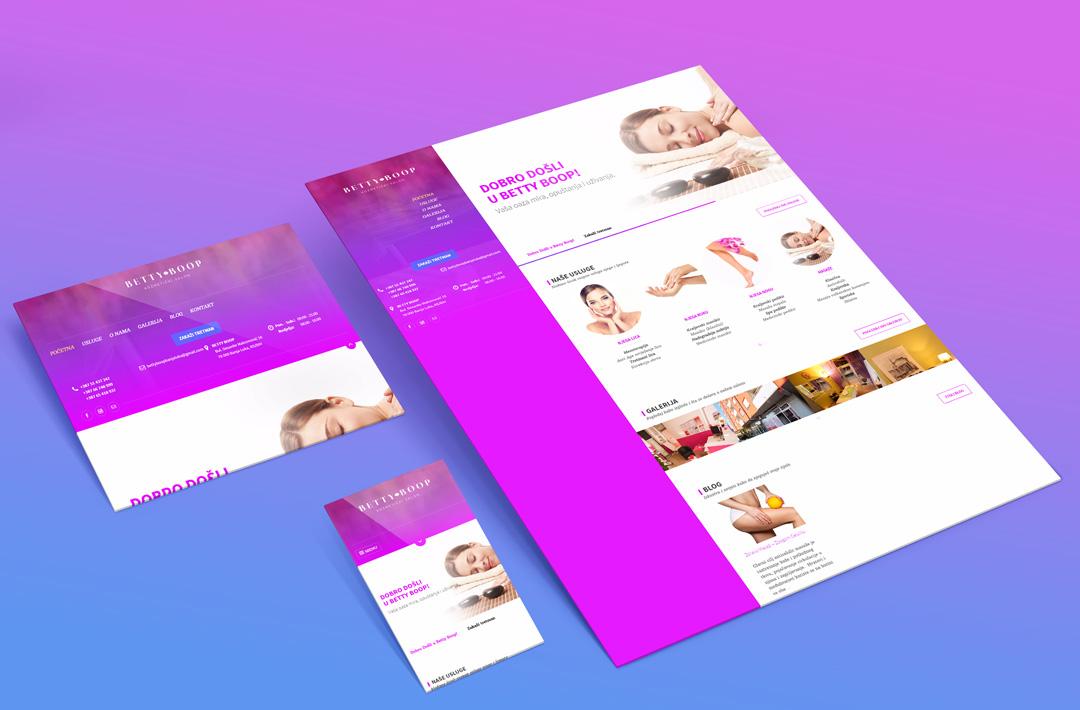 "Web Dizajn | Kozmetički salon ""Betty Boop"""