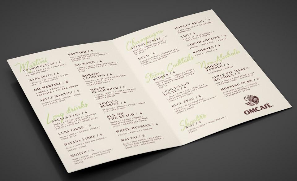 Koktel Karta | OMCAFE
