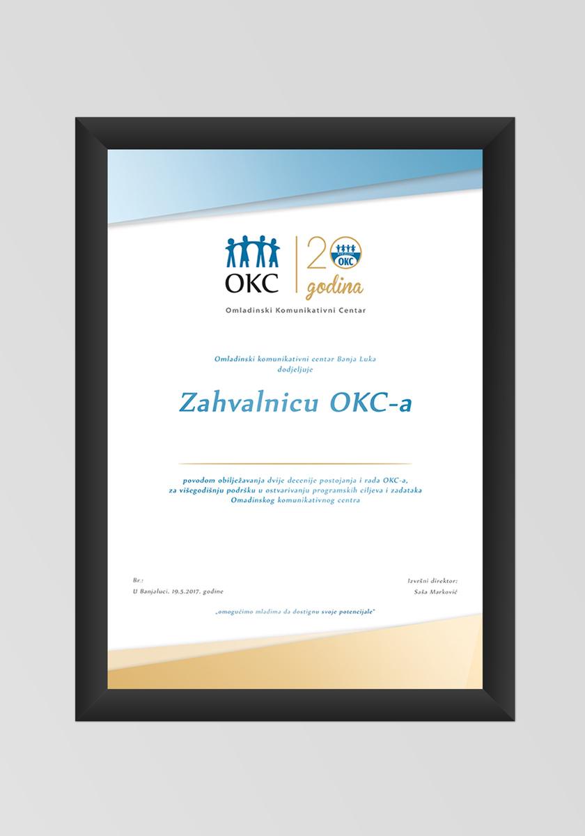 Vizuelni Identitet | 20 godina – OKC